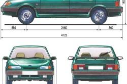 Габаритные размеры автомобиля ВАЗ 2114