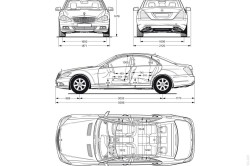 Габариты  Mercedes s-class