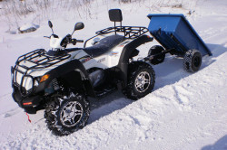 Утилитарный квадроцикл для перевозки грузов
